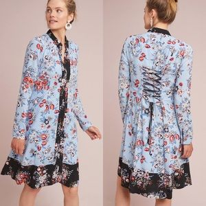 ANTHROPOLOGIE MAEVE Leyster Floral Shirt Dress